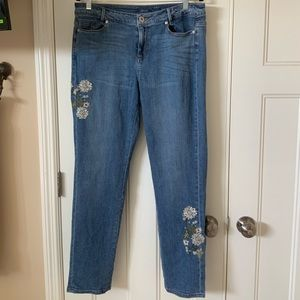 J Jill Embroidered Jeans